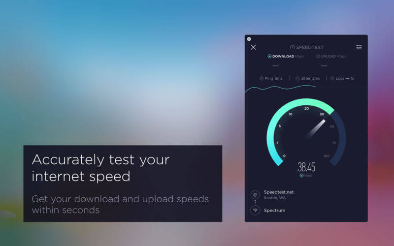Speed Test for Mac