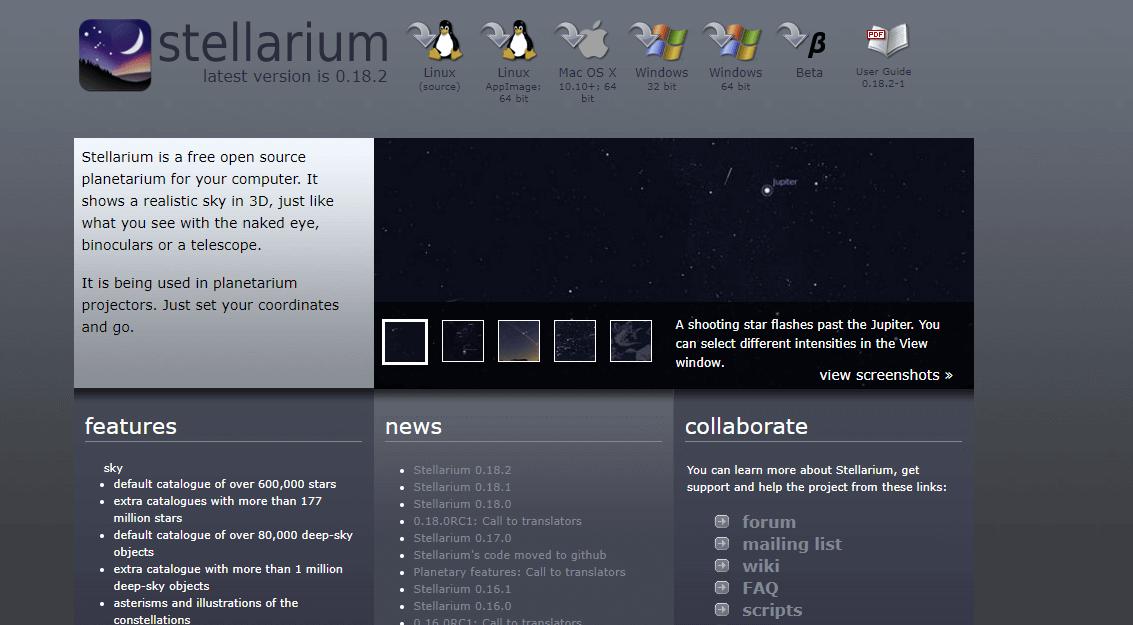 Stellarium for Mac