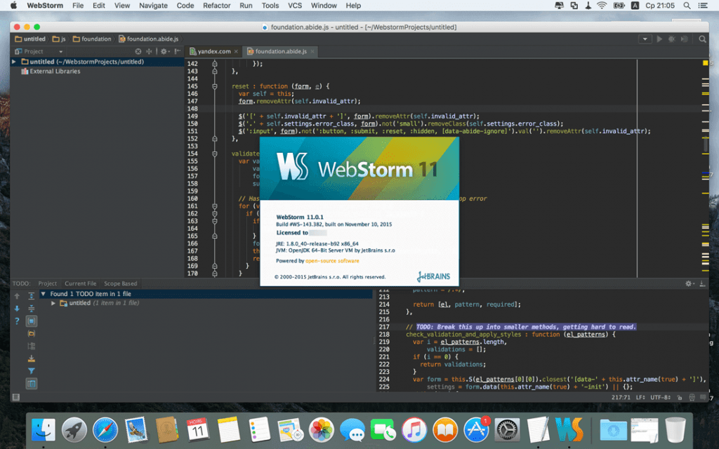 WebStorm for Mac