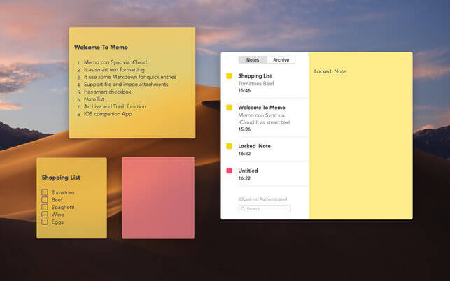 Sticky Notes for Mac