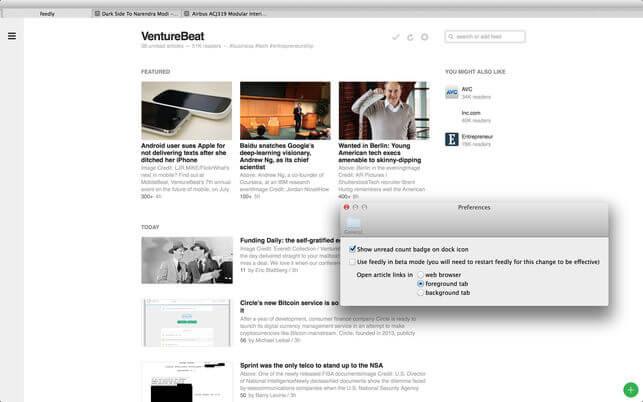 Feedly for Mac