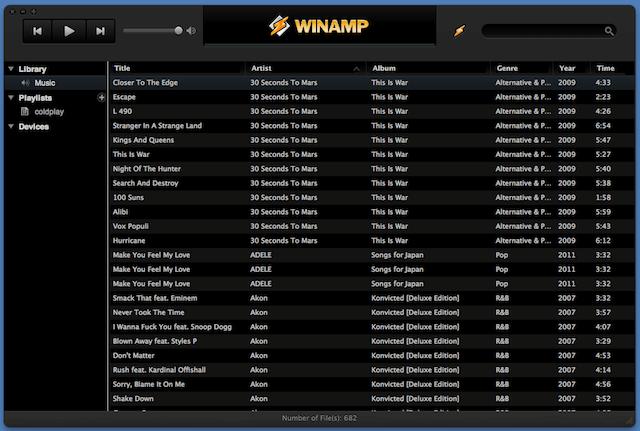 Winamp for Mac