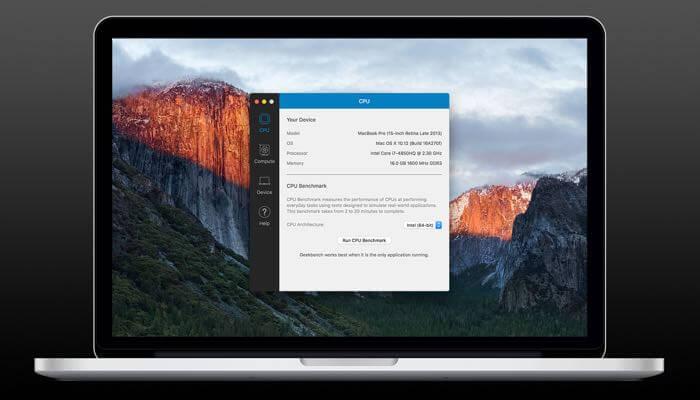 Benchmark for Mac