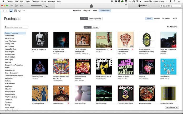 iTunes for Mac
