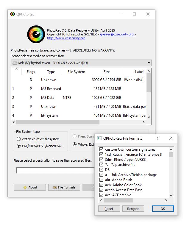 PhotoRec for Mac